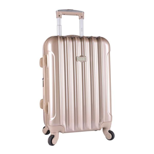 Kensie 20 in. Expandable Hard Side Rolling Carry-On w/ Spinners Metallic