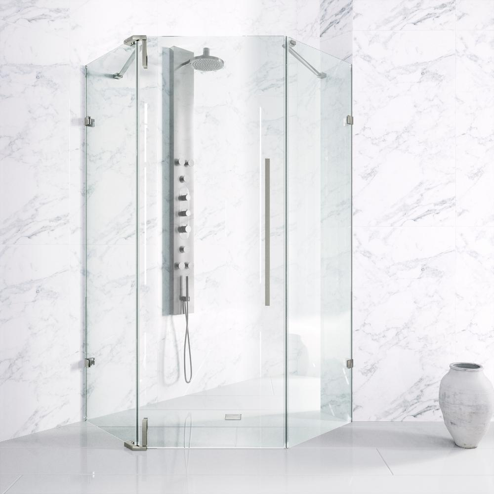 Ontario 42 In X 73 In Adjustable Frameless Neo Angle