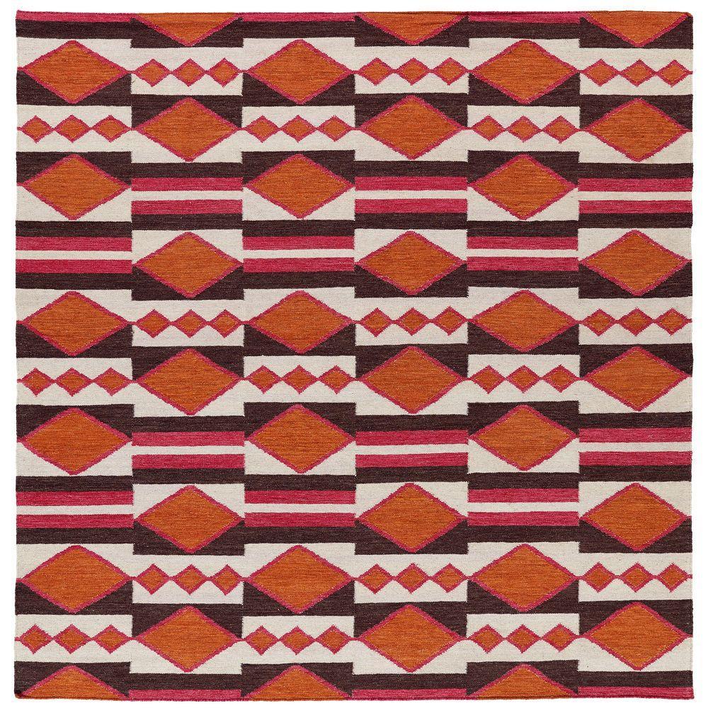 Kaleen Nomad Tangerine 8 ft. x 8 ft. Square Area Rug