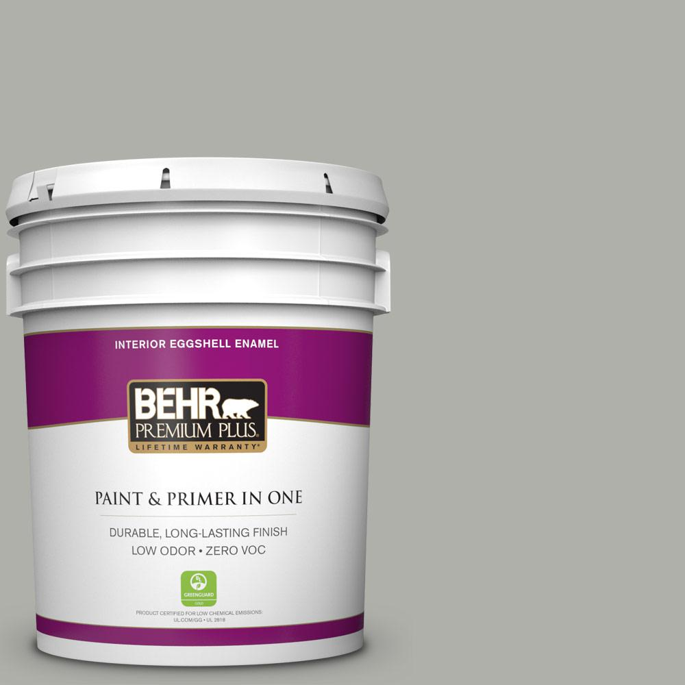 BEHR Premium Plus 5-gal. #BNC-06 Urban Putty Eggshell Enamel Interior Paint