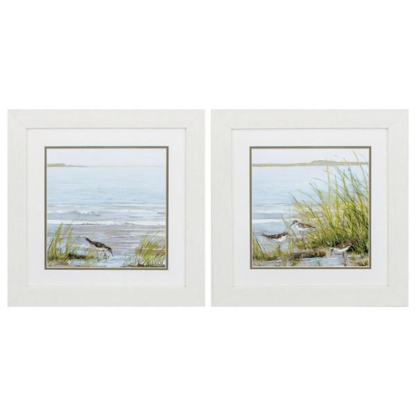 Homeroots Victoria White Gallery Frame Set Of 2 365267 The Home Depot