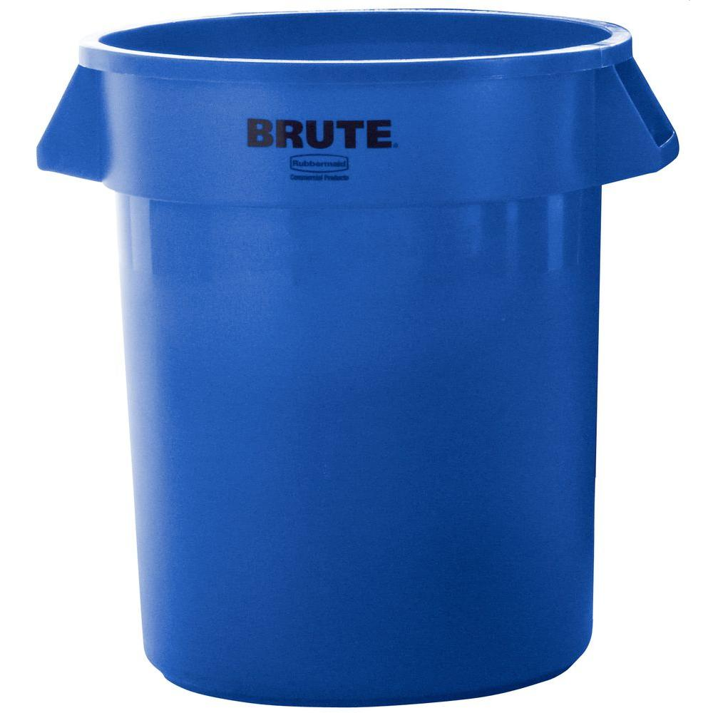 BRUTE 20 Gal. Blue Round Trash Can