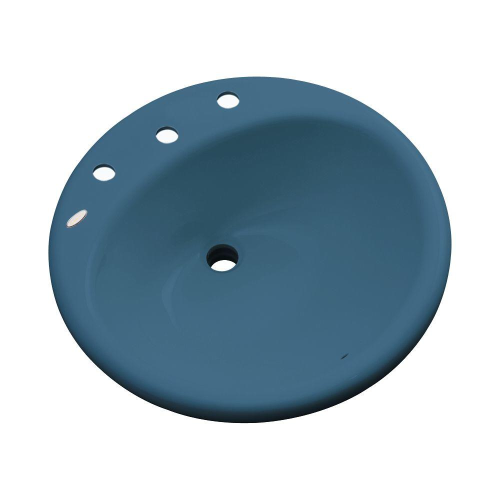 Thermocast Clarington Drop-In Bathroom Sink in Rhapsody Blue
