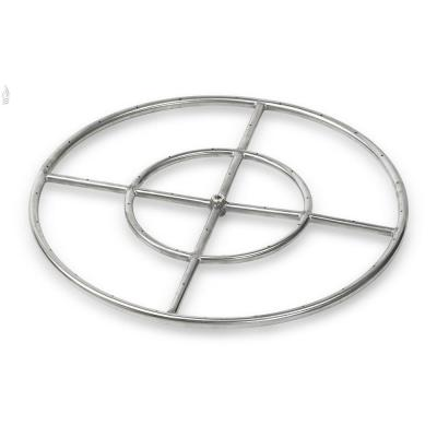 24 in. Dual-Ring 304. Stainless Steel Fire Pit Ring Burner, 1/2 in. Inlet