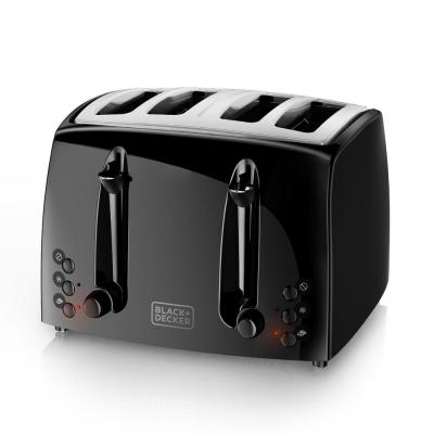 4-Slice Black Extra Wide Toaster