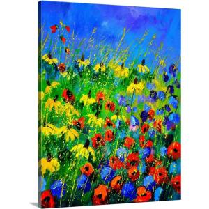 Greatbigcanvas Wild Flowers By Pol Ledent Canvas Wall Art 2545262 24 16x24 The Home Depot