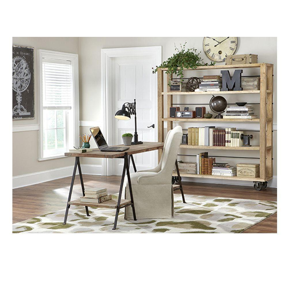 Home Decorators Collection Evans Distressed Natural Open Bookcase