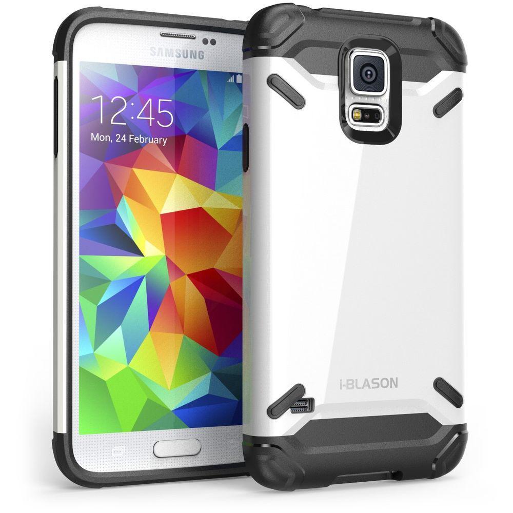 i-Blason Armadillo Series Hybrid Case for Galaxy S5, White