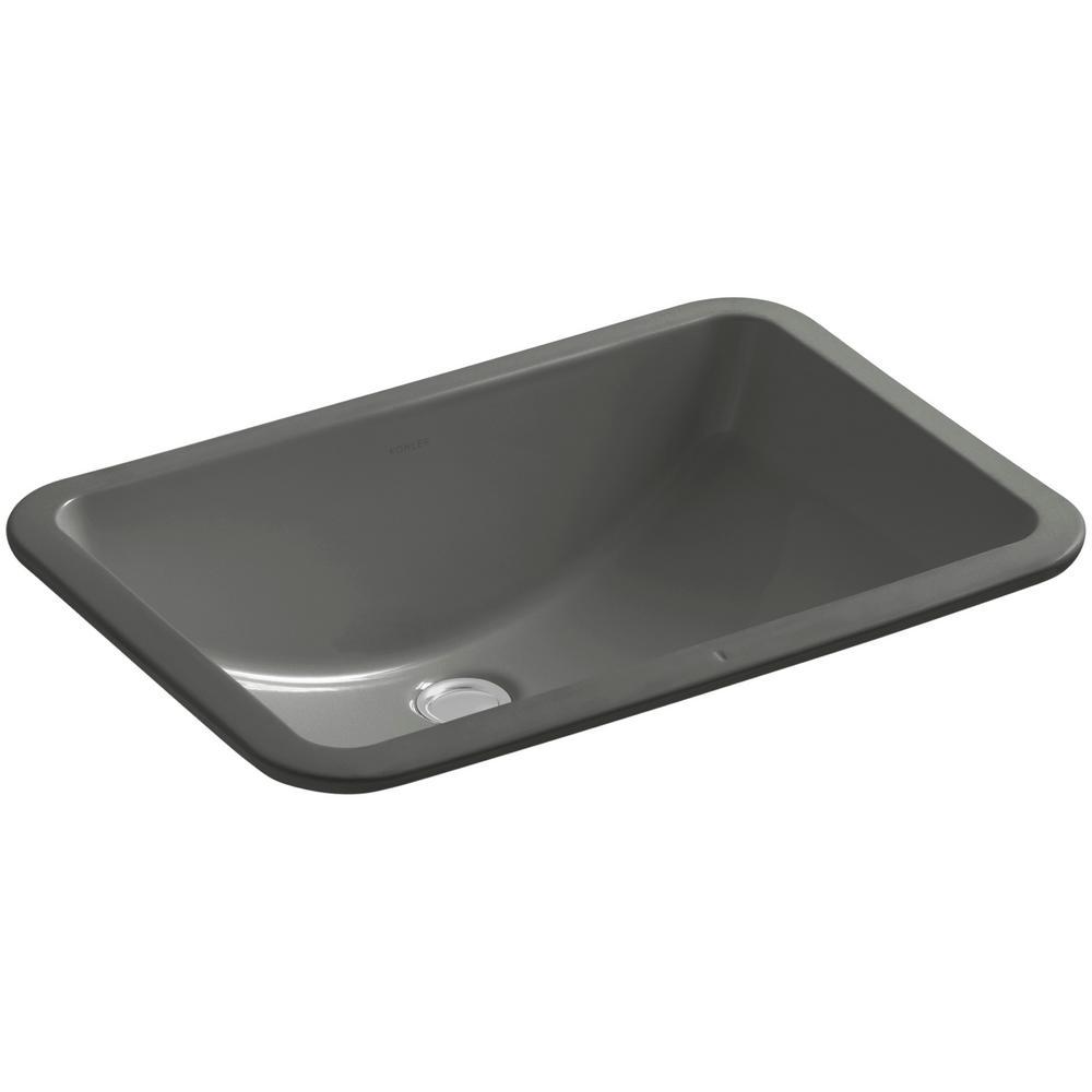 "Ladena 20 7/8"" Undermount Bathroom Sink with Glazed Underside in Thunder Grey"