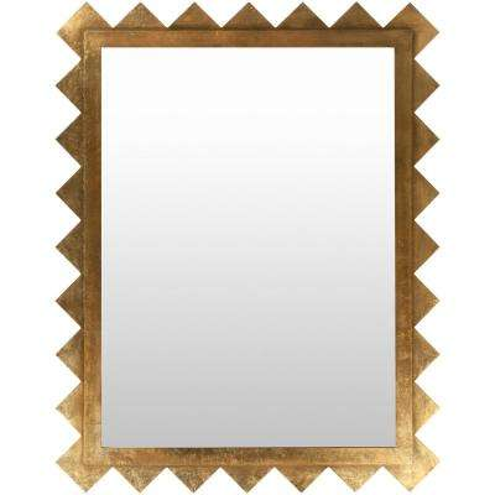 Hampden 57 in. x 45 in. Contemporary Framed Mirror