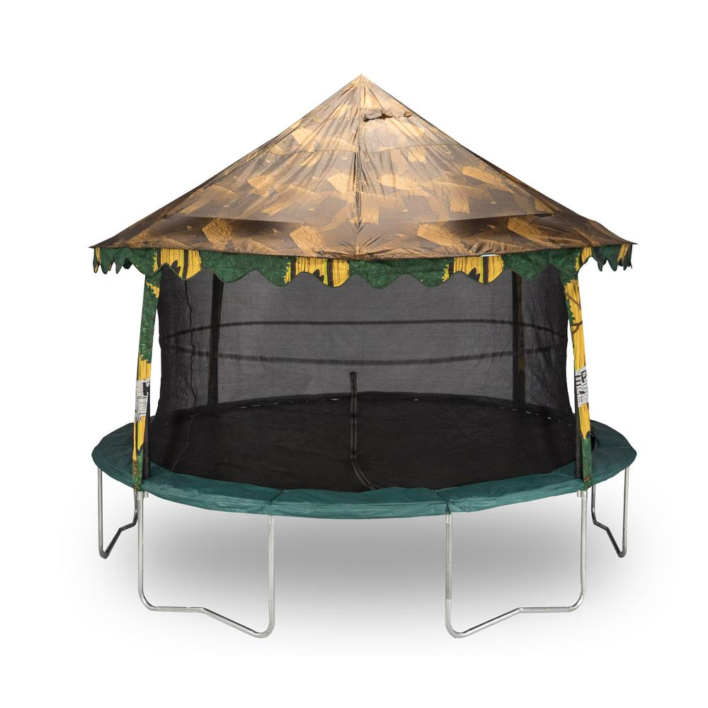 Jumpking 14ft Jumppod Deluxe Trampoline With Enclosure: JUMPKING 14 Ft. Tree House Canopy Cover-ACC-THC14