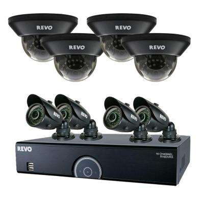 16-Channel 2TB 960H DVR Surveillance System with (8) 700 TVL 100 ft. Night Vision Cameras