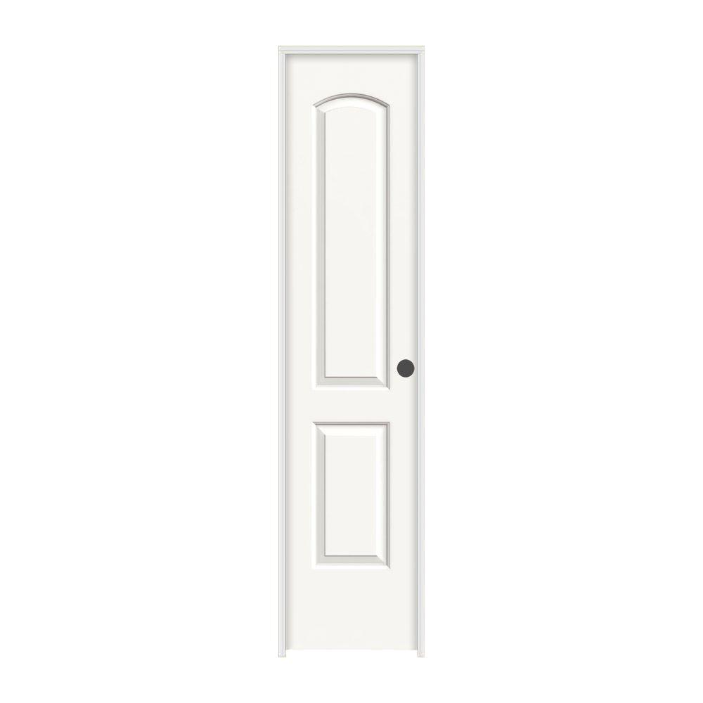 18 in. x 80 in. Continental White Painted Left-Hand Smooth Molded Composite  sc 1 st  The Home Depot & 18 x 80 - Prehung Doors - Interior u0026 Closet Doors - The Home Depot