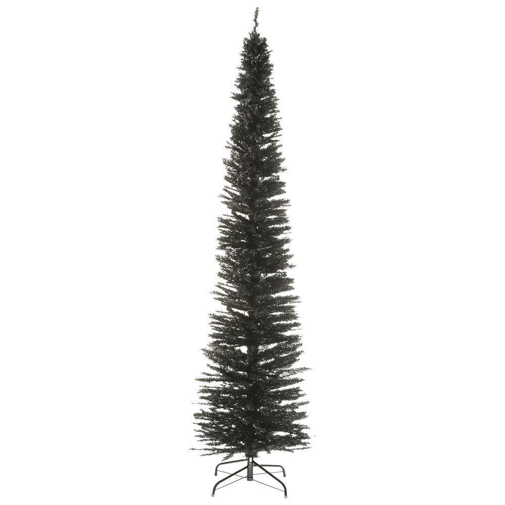9 ft. Black Tinsel Tree