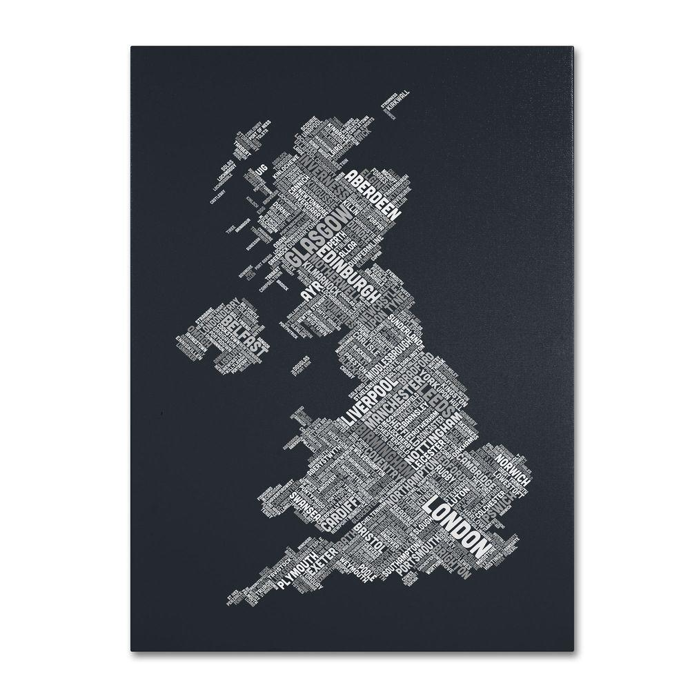 null 24 in. x 16 in. United Kingdom V Canvas Art