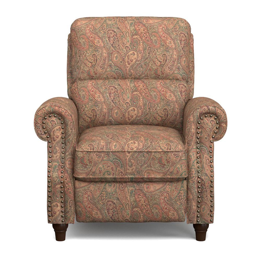 Paisley Push Back Recliner Chair