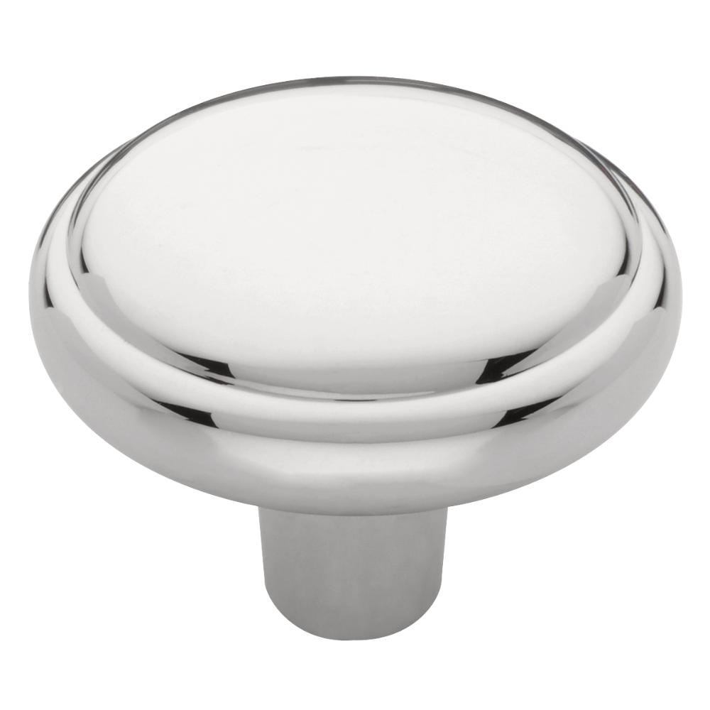 Domed Top 1 3/16 In. (31 Mm) Polished Chrome Round
