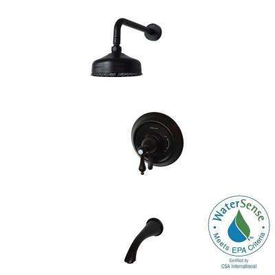 Pressure Balanced Single-Handle 1-Spray Tub and Shower Faucet in Oil Rubbed Bronze (Valve Included)