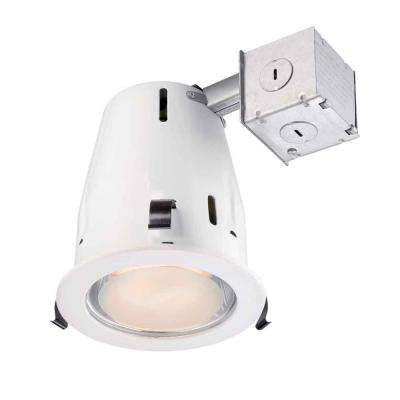 4 in. White Recessed Shower Kit