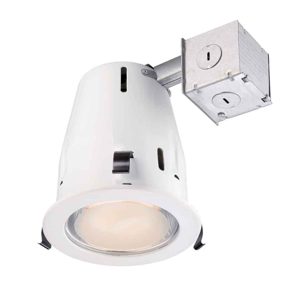 Commercial Electric 4 In White Recessed Shower Kit