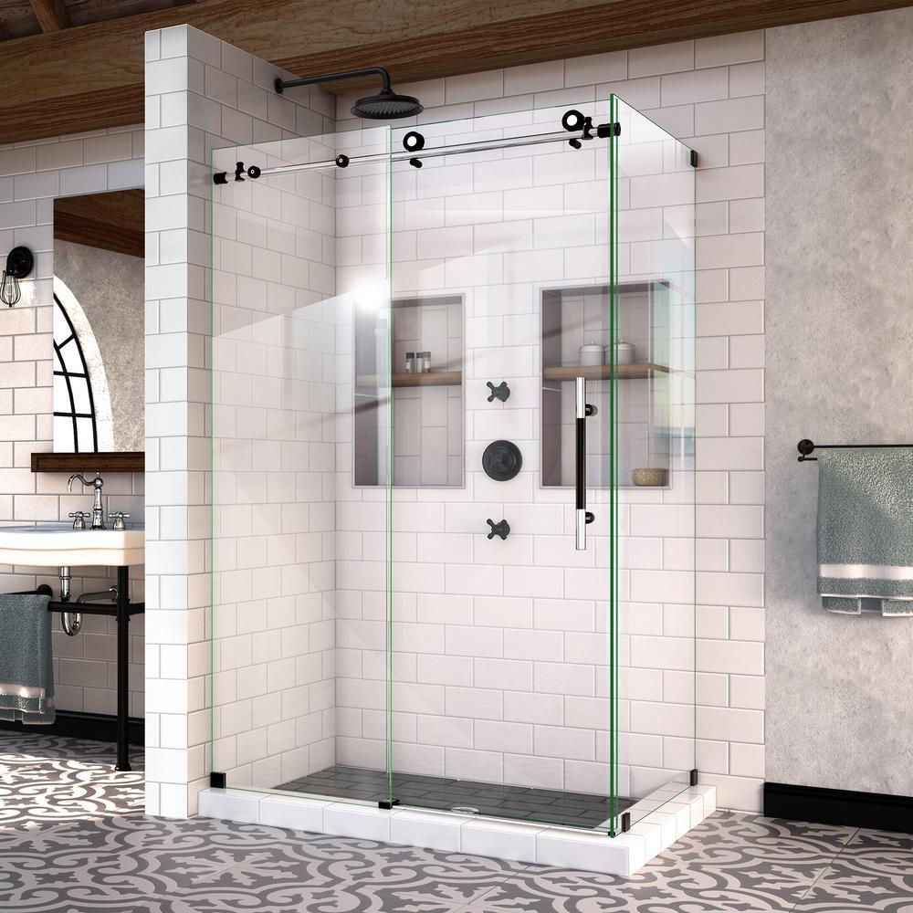 Black - Bypass/Sliding - Shower Doors - Showers - The Home Depot