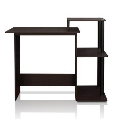 40 in. Rectangular Espresso Computer Desk with Shelves
