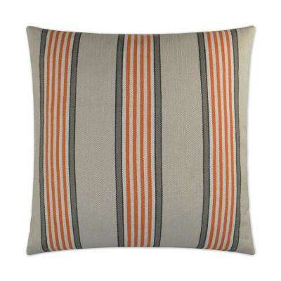 Pennington Orange Feather Down 24 in. x 24 in. Standard Decorative Throw Pillow