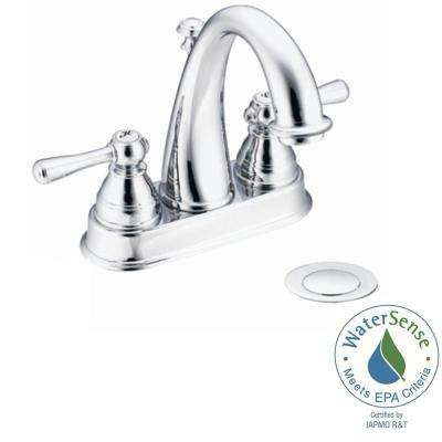 Kingsley 4 in. Centerset 2-Handle High-Arc Bathroom Faucet in Chrome with Drain Assembly