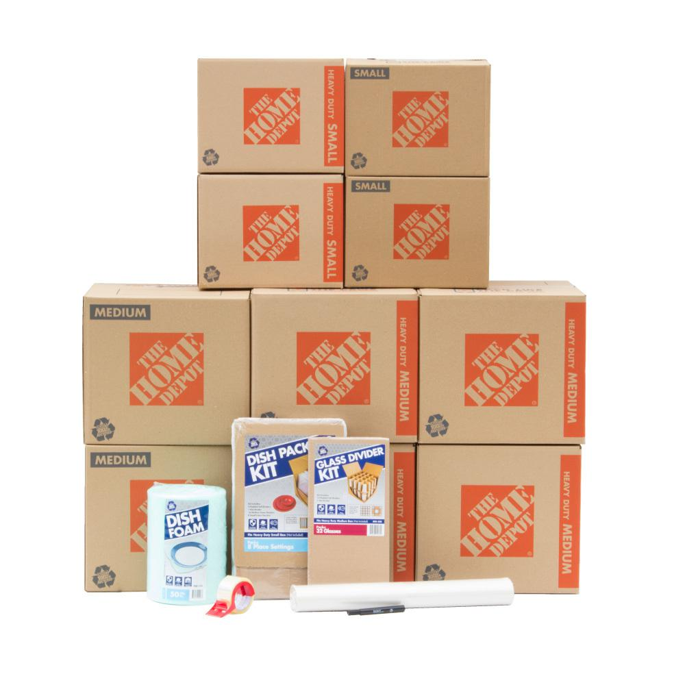 The Home Depot 10-Box Kitchen Moving Box Kit