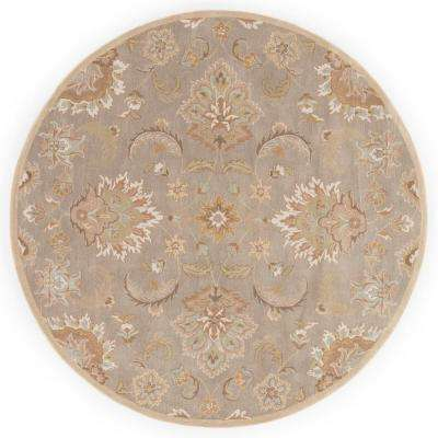 Flint Gray 10 ft. x 10 ft. Oriental Round Area Rug
