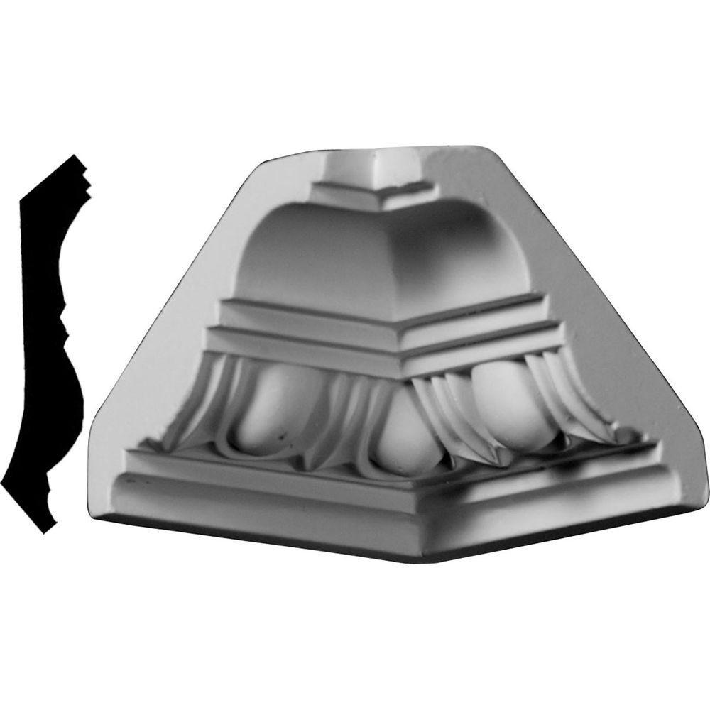 3-1/8 in. x 3-1/8 in. x 2-3/4 in. Polyurethane Crown Inside