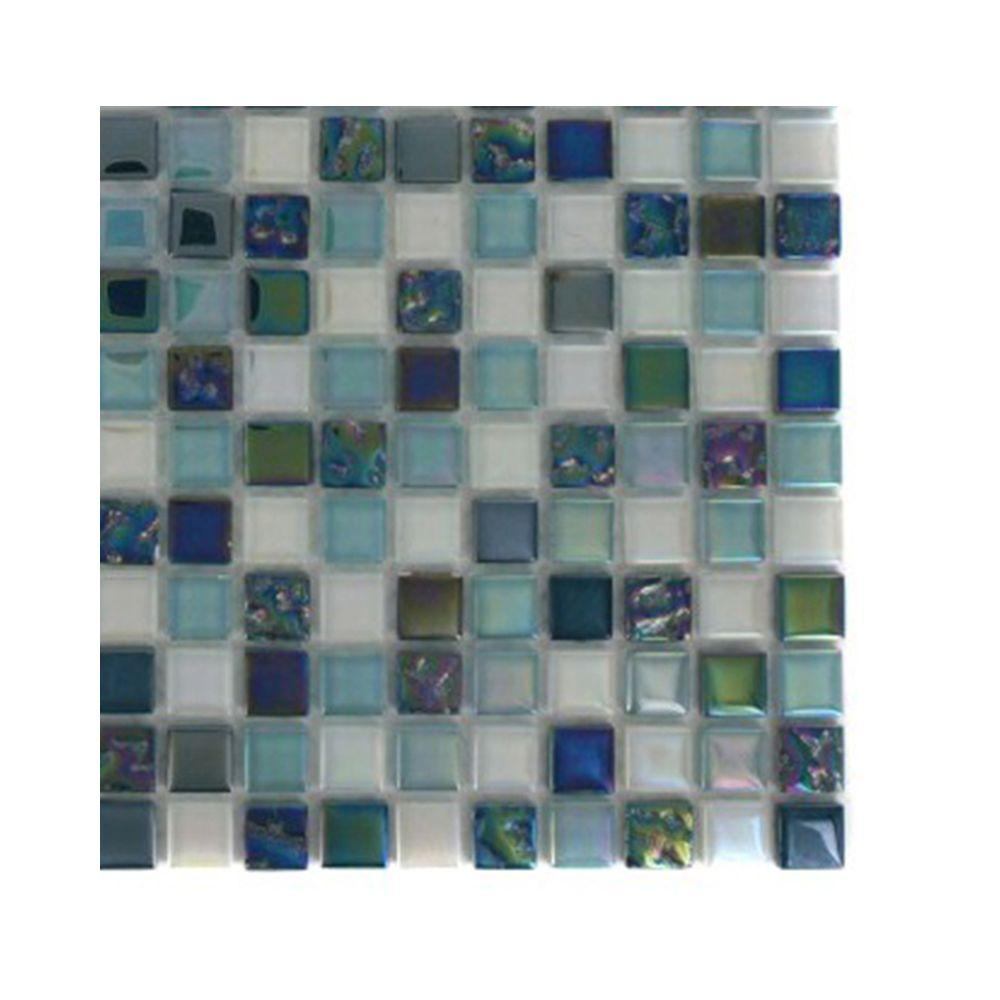 Splashback Tile Capriccio Scafati Glass Mosaic Floor and Wall Tile - 3 in. x 6 in. x 8 mm Tile Sample