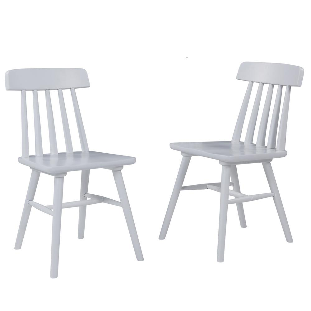 Brookside white armless wood dining chair set of 2