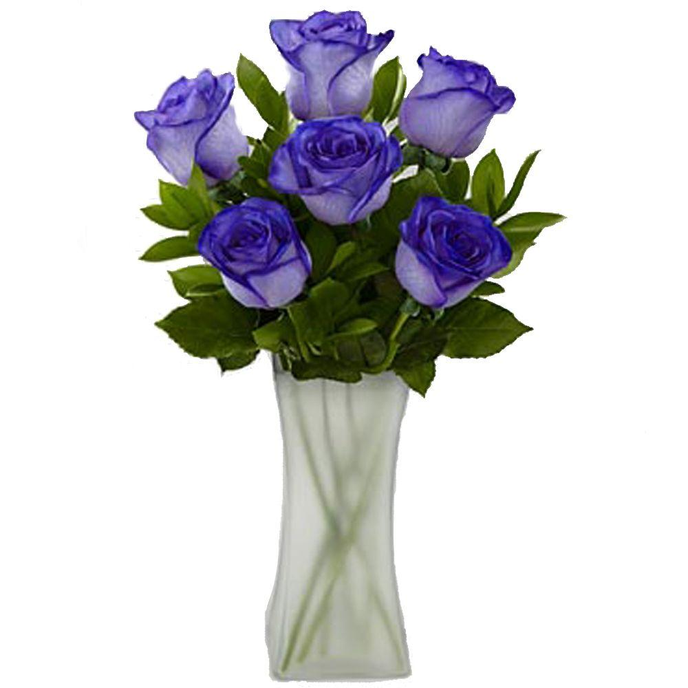 The ultimate bouquet gorgeous deep purple rose bouquet in clear vase the ultimate bouquet gorgeous deep purple rose bouquet in clear vase 6 stem overnight izmirmasajfo Images