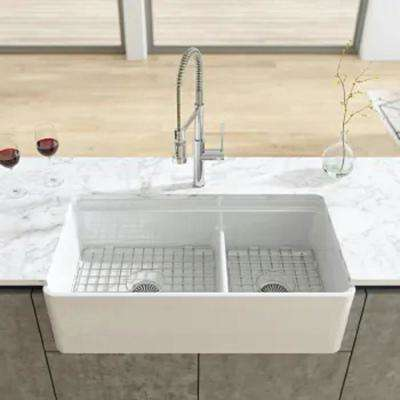 19 in. Grid for Large Side Fireclay Farmhouse Sink in Stainless Steel