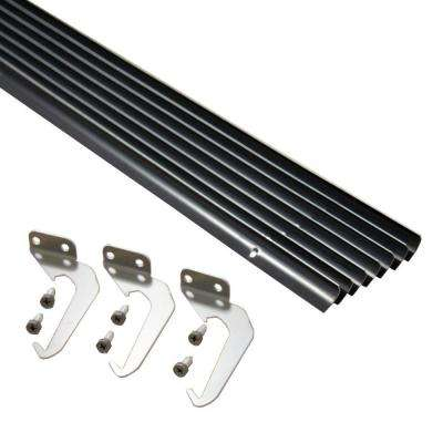 5 ft. Brown Aluminum Gutter with Brackets & Screws - Value Pack of 25 ft.