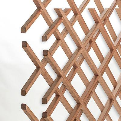 14-Bottle Trimmable Wine Rack Lattice Panel Inserts in Unfinished Solid North American Cherry