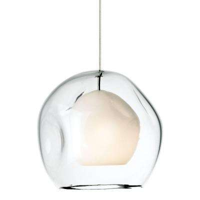 Mini-Jasper 1-Light Satin Nickel Clear Xenon Hanging Mini Pendant