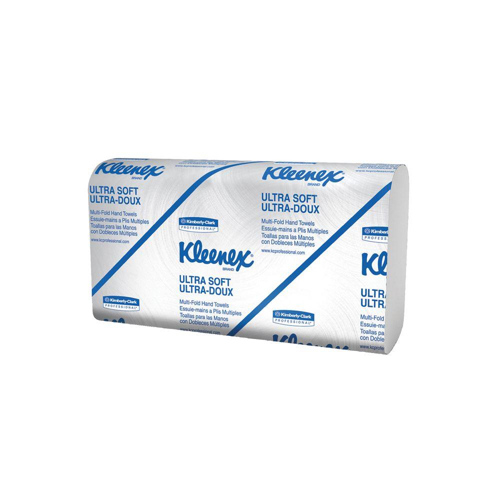 Kleenex 9-1/4 X 9-3/50, Ultra-Soft Multifold Hand Towels, White, Includes 16 Packs of 76 Towels