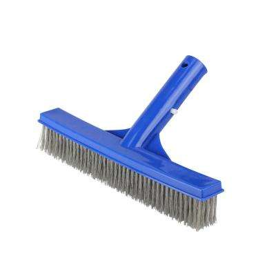 9.75 in.  Blue Stainless Steel Algae Brush for Cement Pools