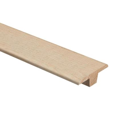 Hickory Crescent 3/8 in. Thick x 1-3/4 in. Wide x 94 in. Length Hardwood T-Molding