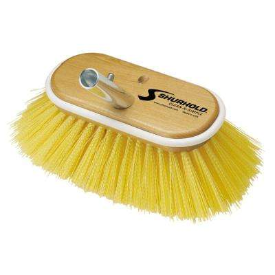 6 in. Deck Brush with Medium Yellow Polystyrene Bristles