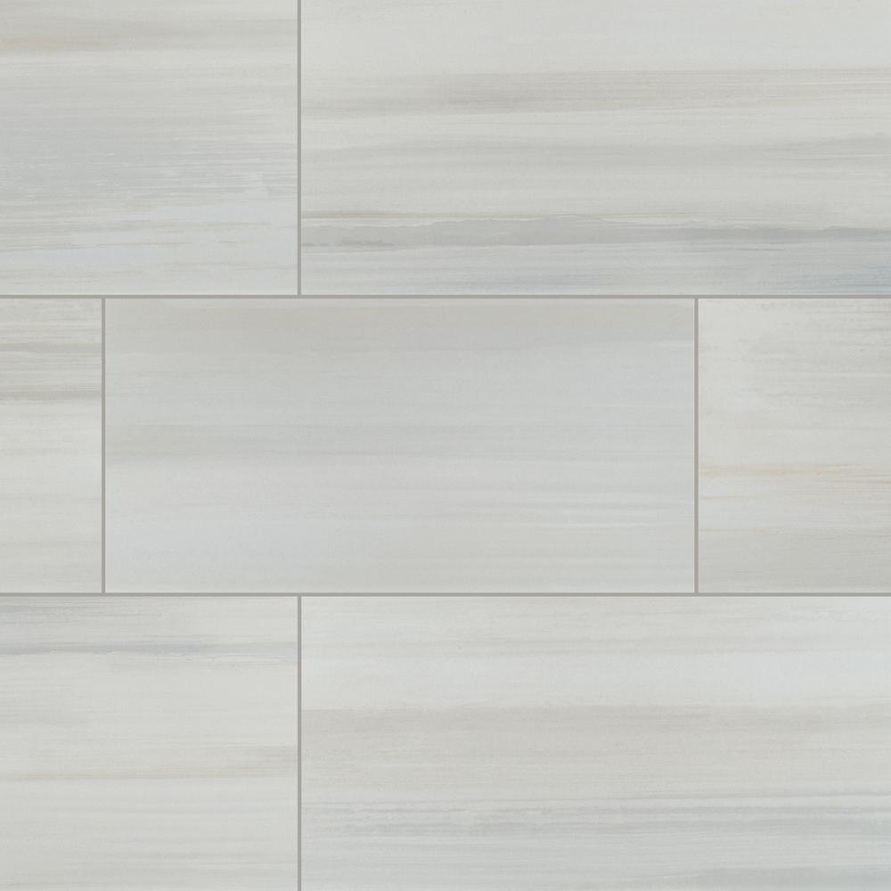 Msi Fresco Blanco 12 In X 24 In Matte Porcelain Floor And Wall Tile 12 Sq Ft Case Nhdfrebla1224 The Home Depot