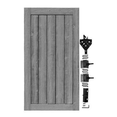 3 ft. W x 6 ft. H Ashland Nantucket Gray Composite Privacy Fence Gate