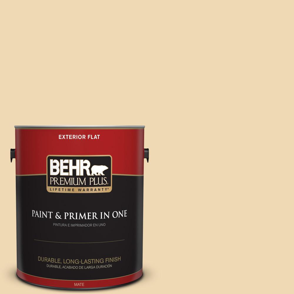 1 gal. #PPU6-11 Hummus Flat Exterior Paint