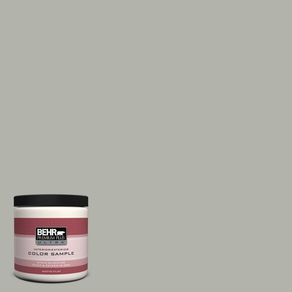 BEHR Premium Plus Ultra 8 oz. #ECC-27-2 Stone Mill Interior/Exterior Paint Sample