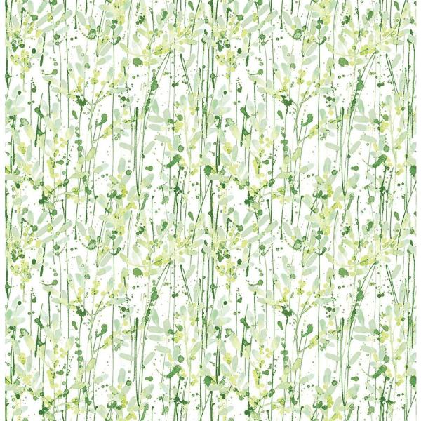 A-Street Willow Green Leaves Wallpaper 2656-004056