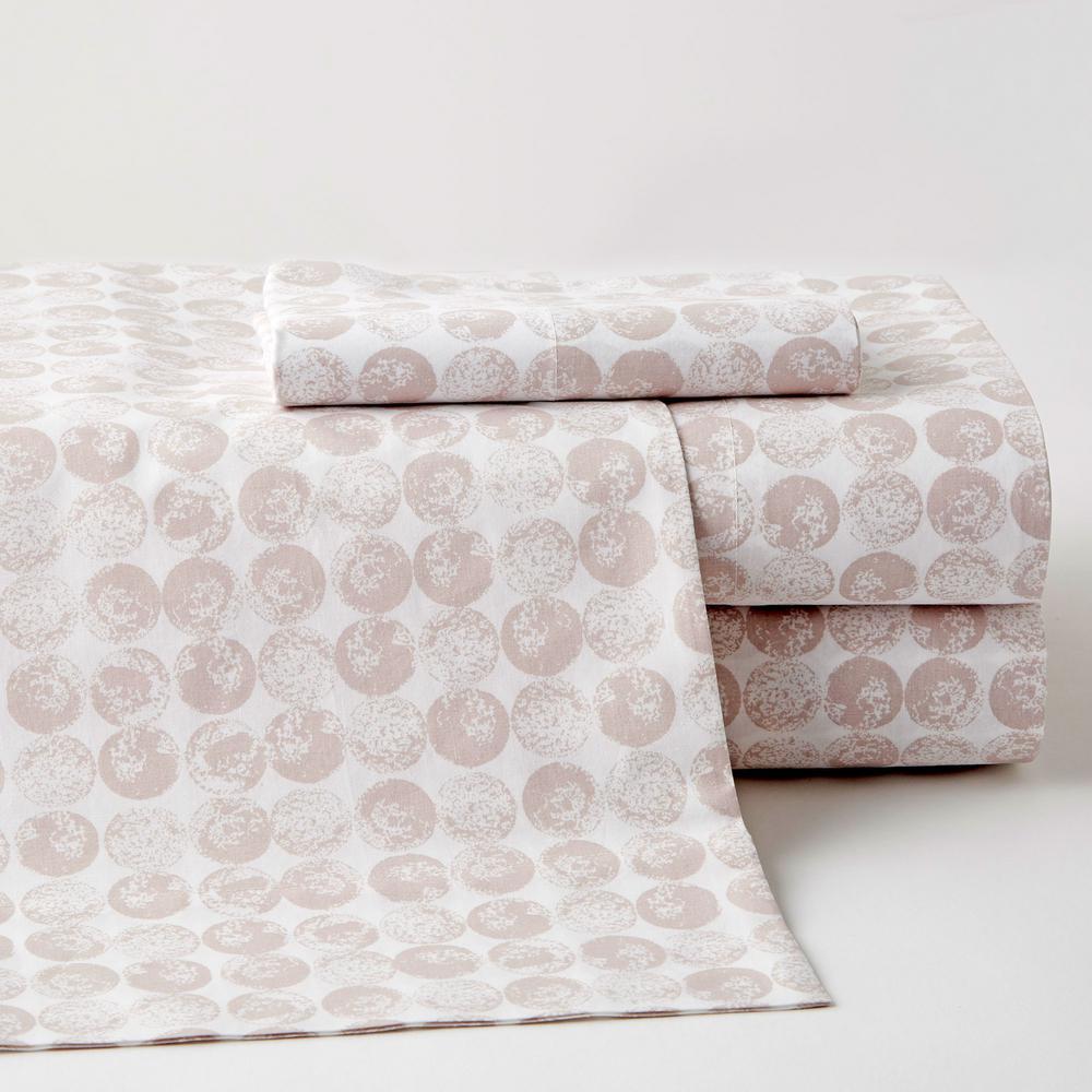 Blake Dot 3-Piece Multicolored Geometric 200-Thread Count Cotton Percale Twin XL Sheet Set