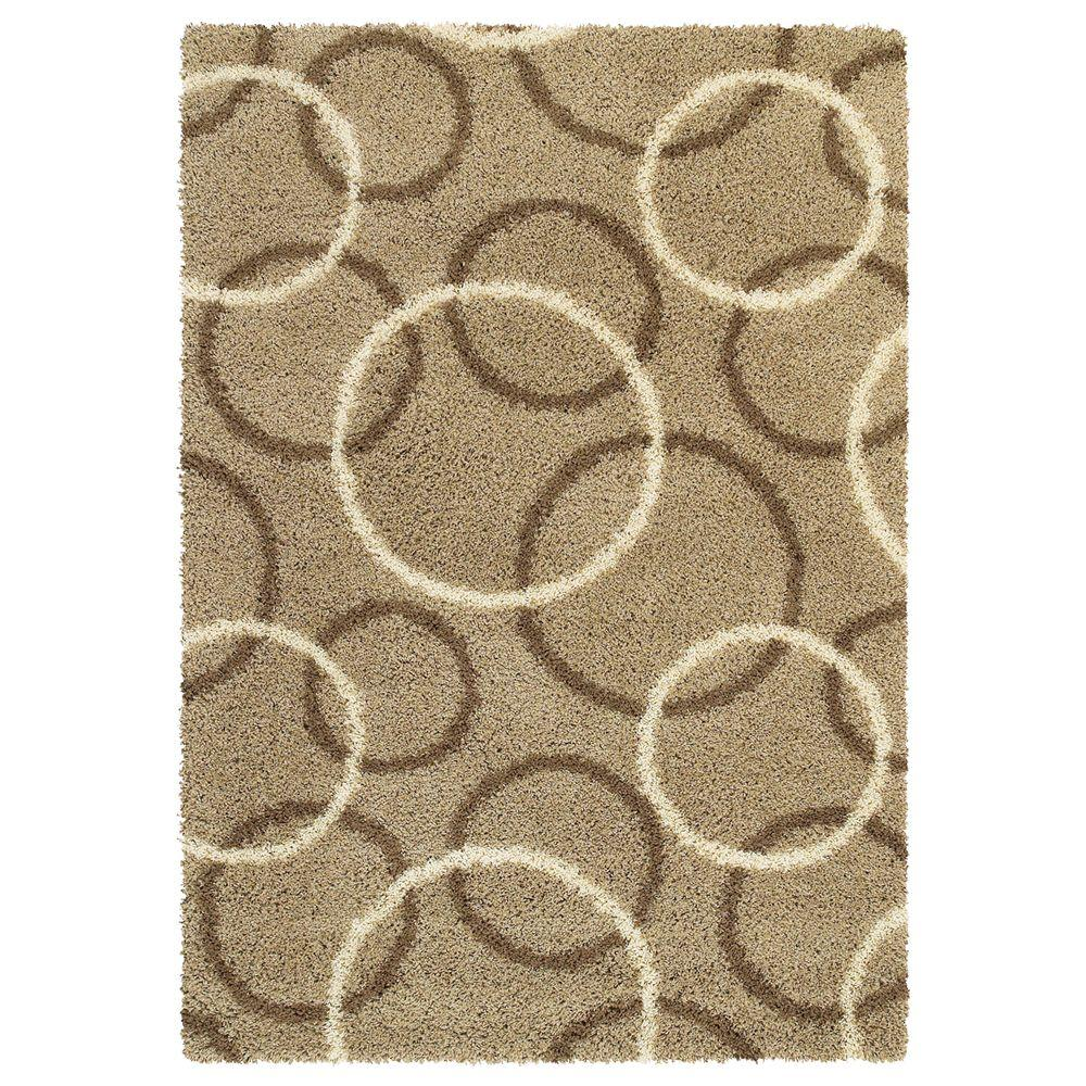 United Weavers Overstock Elan Taupe 7 ft. 10 in. x 10 ft. 6 in. Contemporary Area Rug