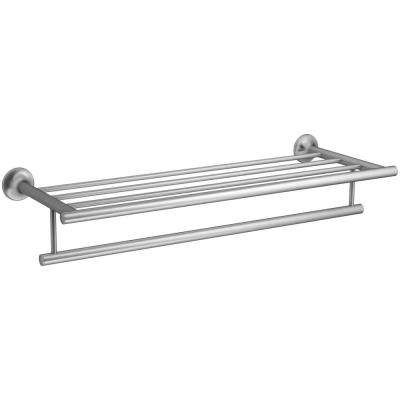 Coralais 24 in. Hotelier Towel Rack in Brushed Chrome